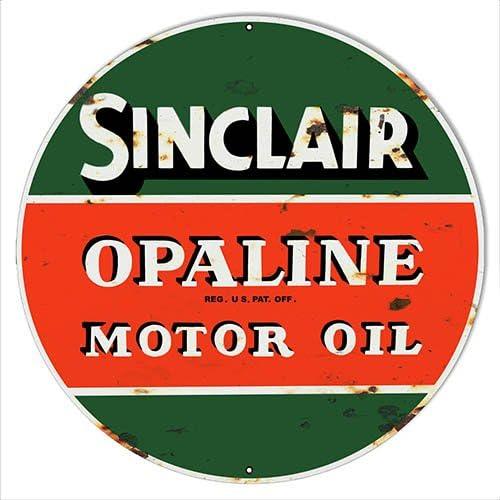 SMOMS1 SINCLAIR Motor Oils Metal Sign 30 CM W X 20 CM H