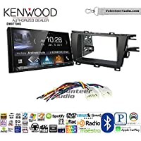 Volunteer Audio Kenwood DMX7704S Double Din Radio Install Kit with Apple CarPlay Android Auto Bluetooth Fits 2010-2015 Non Amplified Toyota Prius