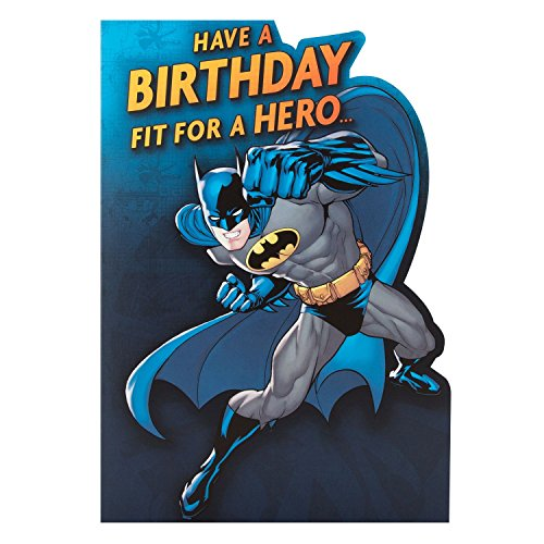 "Batman Kids Birthday Card ""Hero"" - Medium"