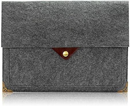 fef51b282f Lavievert Feutre et cuir Housse pour ordinateur portable Sac d'ordinateur  portable 13-13.3 Inches Gray/E1240