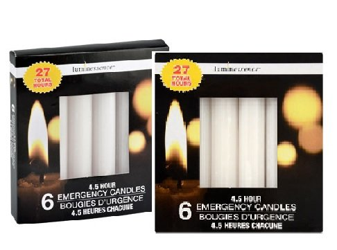 Luminessence 4.5 Hour 6 Emergency Candles (Pack of 2)