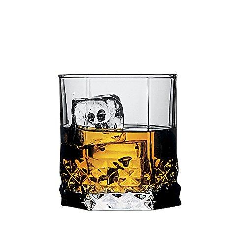 Pasabahce Glass Whisky Glass Set   Set of 6, Transparent, 325ml