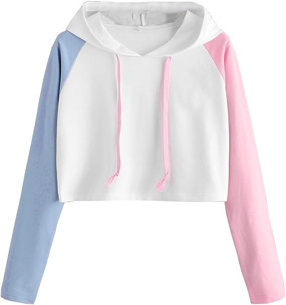 Sweatshirt Femme Hiver Sweats A Capuche Fille Sport Grande