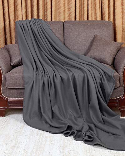 Utopia Bedding Fleece Blanket Queen Size Grey Soft Warm Bed Blanket Plush Blanket Microfiber