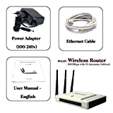 300Mbps 802.11N Wireless Cable Router with 3 Antennas & 5 Ethernet Port - High Speed