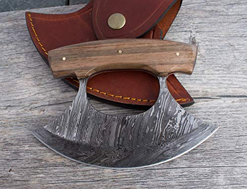 Damascus Steel Custom Inupiat Ulu Knife North Star Knife & Ulu Handmade Lifetime Warranty Excellent Kitchen Cutlery