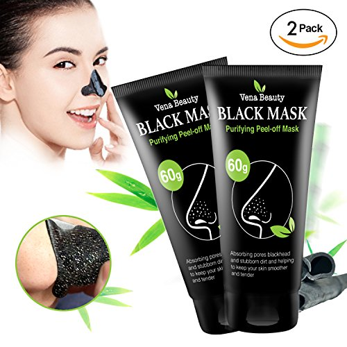 Black Mask Charcoal peel off mask-  Blackhead Remover Purifying Deep Cleansing Facial Black Mask, Deep Pore Cleanse for Acne, Oil (Black Peel)