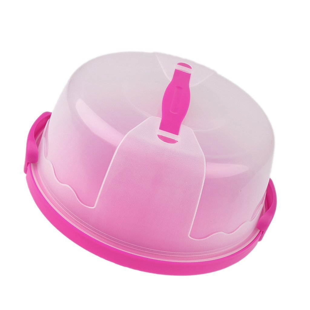 Welim Dessert Box Cake Storage Cake Carry Case Cake Container Portable Cupcake For Cakes Rolls Baked Breads And So On Rose Red