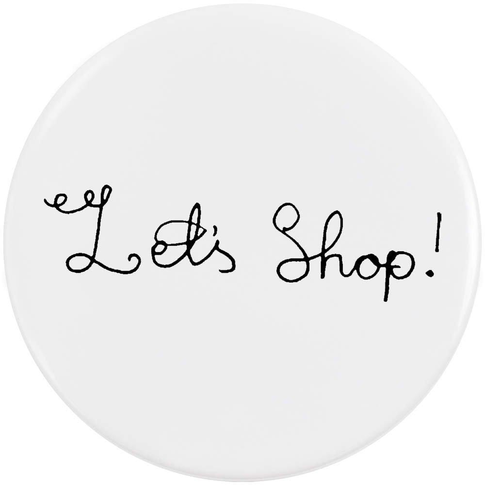 Azeeda 58mm 'Let's Shop' Bouton de Badge (BB00020322)