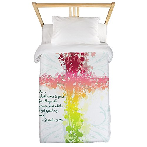 Twin Duvet Cover Christian Faith Bible Prayer Cross by Royal Lion