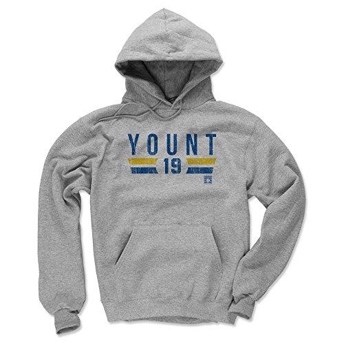 (500 LEVEL Robin Yount Milwaukee Brewers Hoodie Sweatshirt (X-Large, Gray) - Robin Yount Font B)