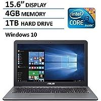 2016 Flagship Model Asus 15.6 Performance Laptop PC, Intel Core i3-5020U, SuperMulti DVD, 4GB RAM, 1TB HDD, Bluetooth, Webcam, Windows 10, Silver