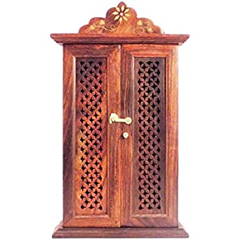 Captivating CHRISTMAS GIFT/ CHRISTMAS SPECIAL Craftsu0027man Wooden Wall Hanging Double  Door Key Box Holder