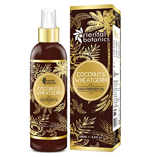 Oriental Botanics Organic Coconut & Wheat Germ Oil for Hair & Skin - 200ml (No Mineral Oil, Silicon or Paraben) ()