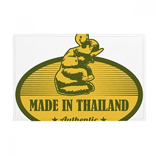 Thai Customs Culture Made in Thailand Anti-slip Floor Mat Carpet Bathroom Living Room Kitchen Door 16''x30''Gift by BeatChong