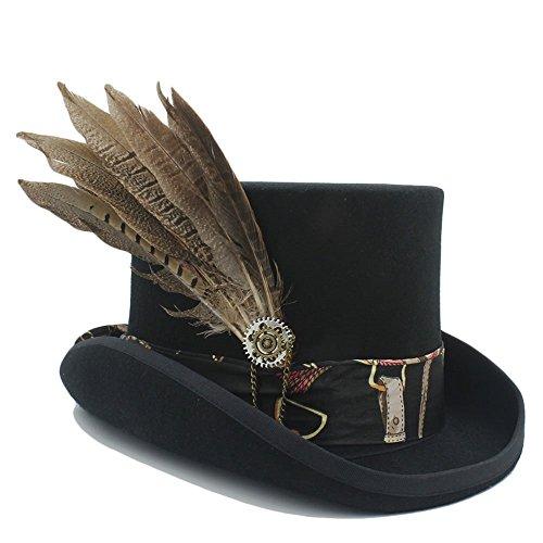Hombres Amayay Estilo Cilindro Vintage Con Unisex Simple Hat Gear 1 Gorritas Womens Tejidas Gorros Steampunk Tradicional Sombrero Moda qvwIrHv