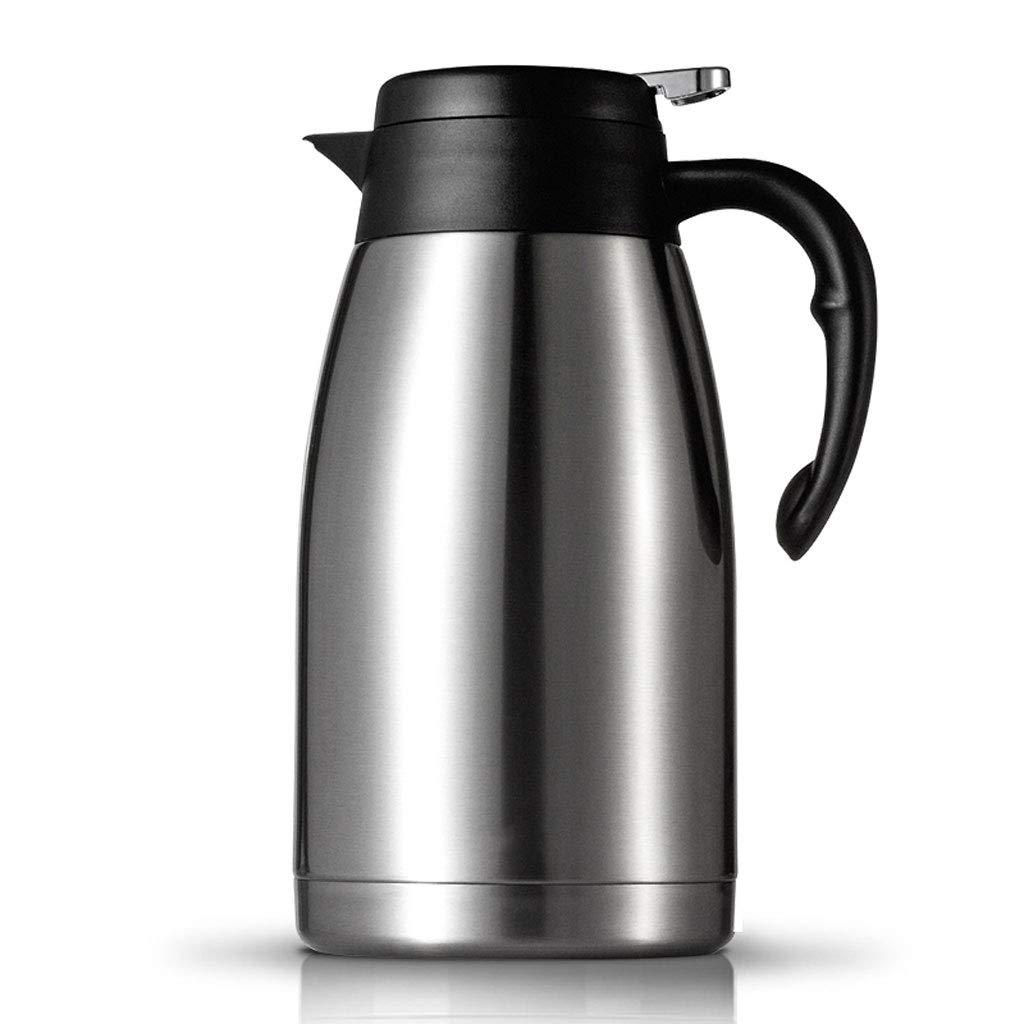 Trinkflaschen Edelstahl Pumpe Isolierflasche Krug - ideal für heiße und kalte Getränke Getränke Tee Kaffee Wasser (groß (2L)