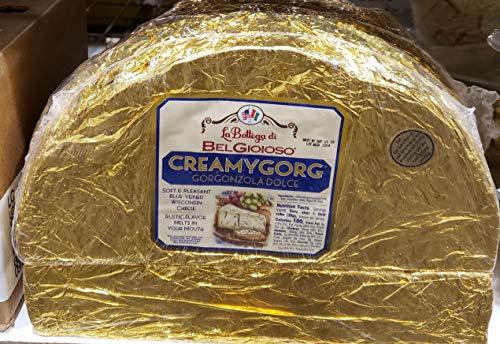 Belgioioso Creamygorg Gorgnzola dolce Soft Pleasant Blue Veined Wisconsin Cheese ~4lbs
