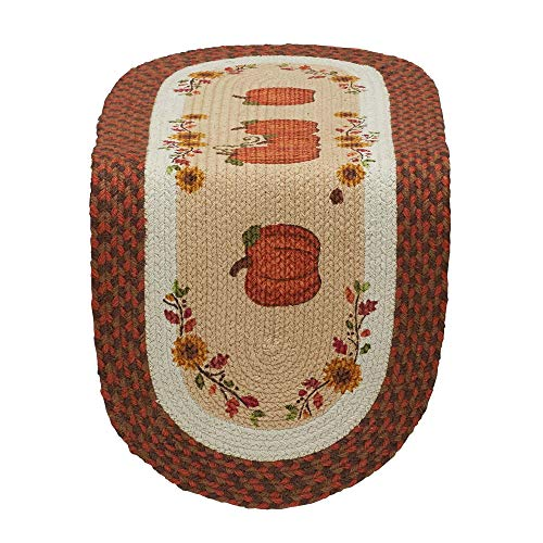 """DII 14x36"""" Jute/Burlap Table Runner, Country Pumpkins - Perfect for Fall, Thanksgiving, Catering Events, Dinner Parties, Special Occasions or Seasonal Décor from DII"""