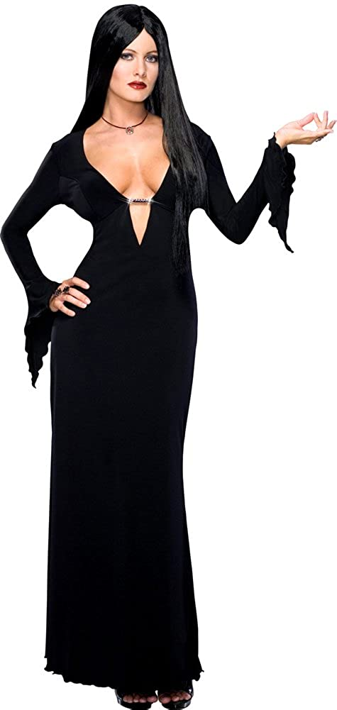 279956e6f Amazon.com: SALES4YA Adult-Costume Morticia Plus Size Halloween Costume -  Adult Plus: Clothing