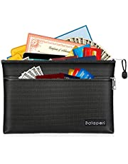 Fireproof Document Bag, Water-Resistant and Fireproof Money Bag, Safe Storage Organizer Pouch with Zipper for A4/A5 Document Holder,File,Cash,Passport,Jewelry,Tablet