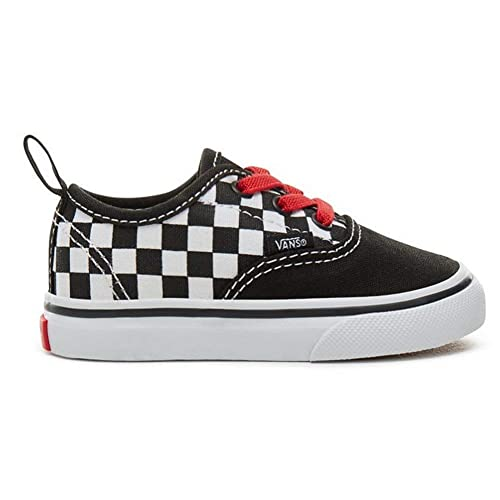 Zapatillas Vans - Authentic Elastic Negro/Rojo/Blanco Talla: 17,5: Amazon.es: Zapatos y complementos