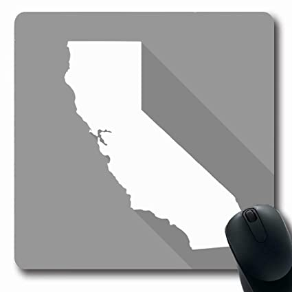 Amazon Com Ahawoso Mousepads American Gray Map California White