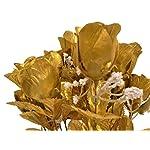 Phoenix-Silk-Rose-Buds-Bush-14-Artificial-Flowers-19-Bouquet-265-Gold