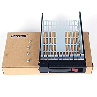"3.5"" SAS SATA Hard Drive Caddy Tray Sled For HP ProLiant DL120 G7 DL140 DL145 ML310 G2 DL160 DL165 DL180 ML150 ML370 G5 G6 Compatible with 373211-001 373211-002"