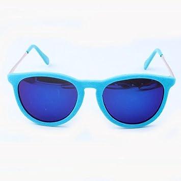 Z&YQ Lunettes de soleil lunettes rondes lunettes de lunette , green frames, blue and green slices