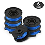 Eventronic Line String Trimmer Replacement Spool for Ryobi, 0.065'' Autofeed Replacement Spools for Ryobi 18V, 24V, and 40V Cordless Trimmers (6 Pack)