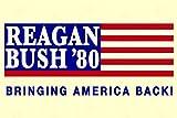 Ronald Reagan George Bush 1980 Bringing America Back Campaign Poster 12x18