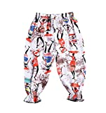 acefast inc toddler - ACEFAST INC Baby Boys Girls Anti-Mosquito Trousers Loose Colour Printed Haren Pants
