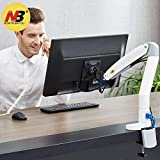NB North Bayou Monitor Desk Mount Stand Full Motion Swivel Monitor Arm Gas Spring for 22''-35'' Computer Monitor from 6.6 to 19.8lbs(White)