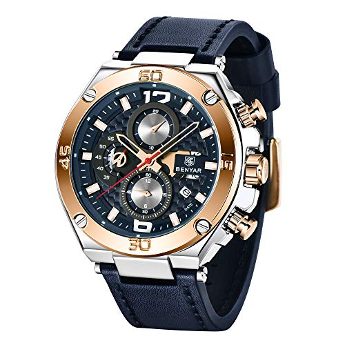 Amazon.com: BENYAR - Reloj de pulsera para hombre con ...