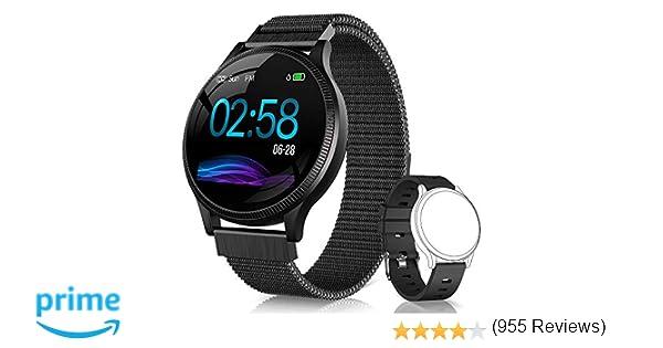 NAIXUES Smartwatch, Reloj Inteligente IP67 Pulsera Actividad Inteligente con Pulsómetro, Monitor de Sueño, Podómetro, Calorías Mujer Hombre para iOS y ...