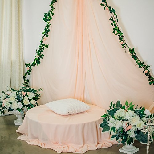 Yeele Bouquet Archway Backdrops 10x10ft /3 X 3M Indoor Bridal Shower Decoration Wedding Ceremony Pink Curtain Green Plant Pictures Adult Artistic Portrait Photoshoot Props Photography Background ()