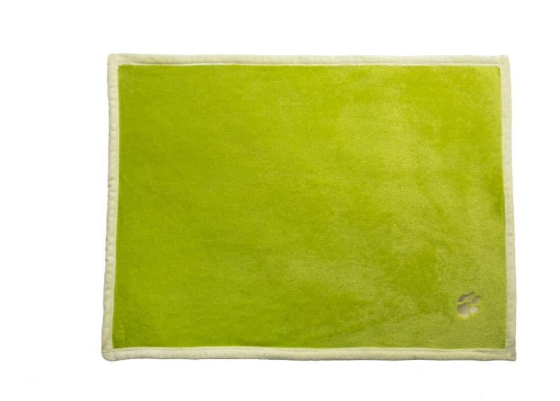 FERZA petsuppliesmisc Cat Dog Blankets Pet Bed Blanket Pet Dog Blanket Fleece Fabric Soft (Green,S)