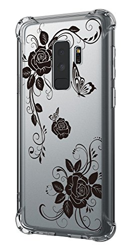 Case for Galaxy S9 Plus,Cutebe Shockproof Hard PC+ TPU Bumper Case Scratch-Resistant Cover for Samsung Galaxy S9 Plus 2018 Release Butterfly