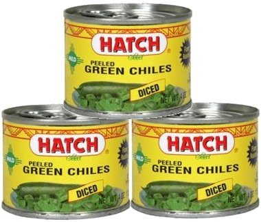 Hatch Farms Fire-roasted Diced Green Chiles Mild - Pack of 3 (Chile Roasted)