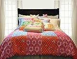Pointehaven Printed 300 TC 2-Piece 100-Percent Combed Cotton Duvet Set, Clarissa, Twin