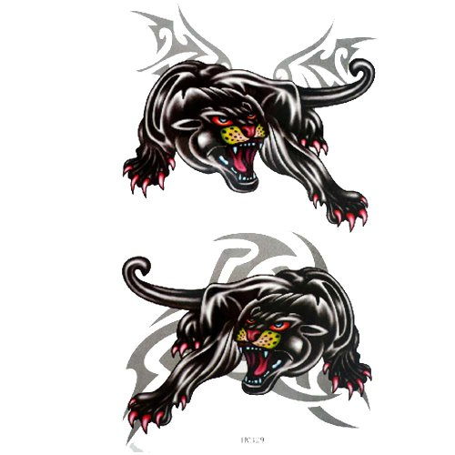 GGSELL King Horse Waterproof and sweat fake tattoo stickers Panthers