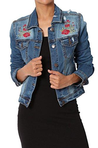 Rose Embroidered Jacket - 9