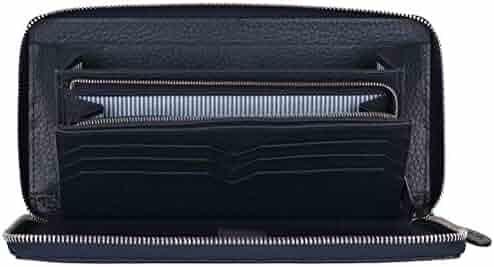 Passport Holder Document Travel Organizer Bag,Black Amhuui Anti-Electronic Piracy Business Travel Wallet
