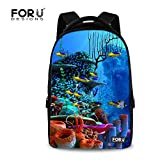 FOR U DESIGNS Classic Undersea World Design Lightweight Laptop Backpack for College Men