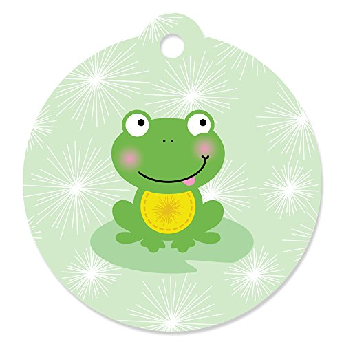Froggy Frogs - Baby Shower or Birthday Party Favor Gift Tags (Set of 20)