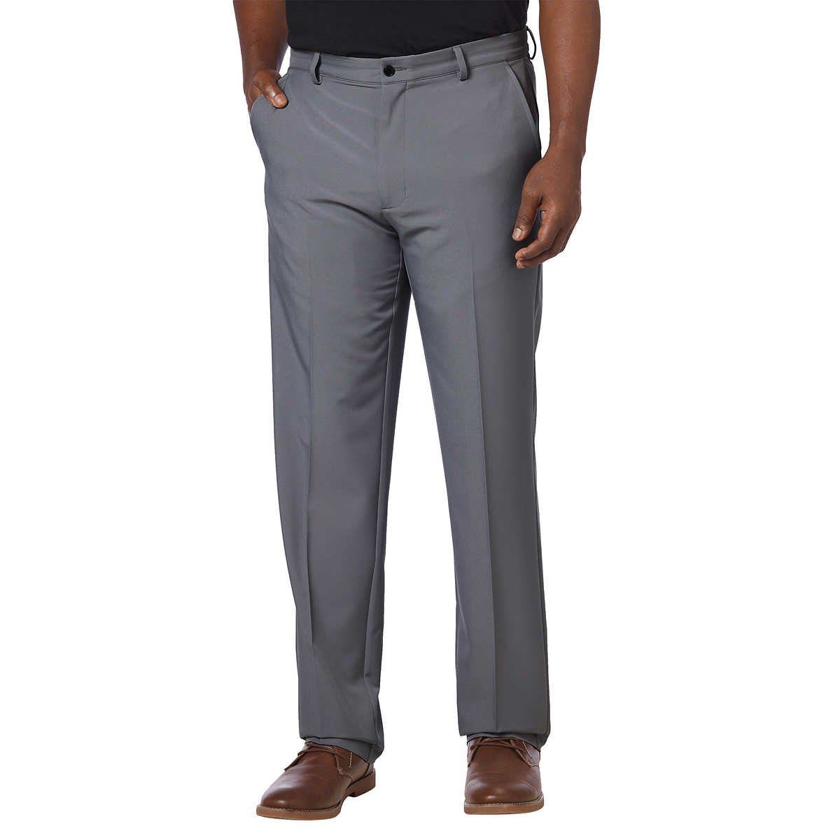 Greg Norman Mens ML75 Ultimate Travel Golf Pants (30W x 32L, Steel) by Greg Norman (Image #1)