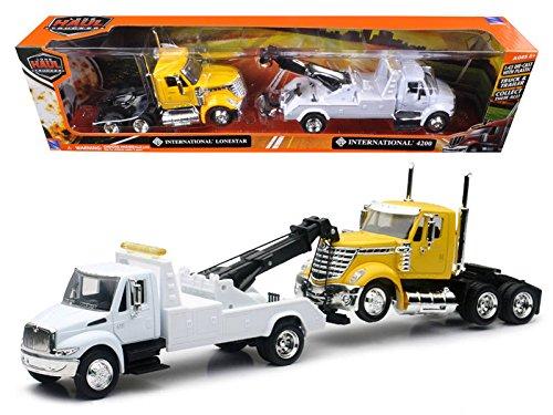 (NewRay 1:43 Long Haul Trucker - International 4200 Tow Truck & Lonestar Cab)