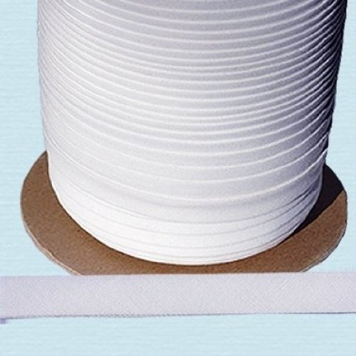 Bias Tape ~ 1//2 Wide Double-fold Bias Tape ~ White Poly Cotton 10 Yards//Pack