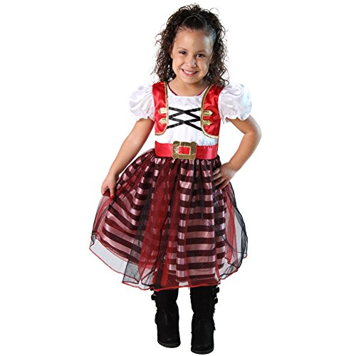 Storybook Wishes Girls Pirate Princess Dress , Size 4/6 (Storybook Costume)